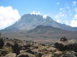 反対側の山。