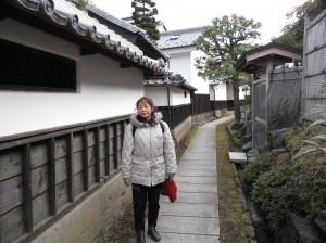 上田城裏の「歴史の道」