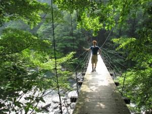 秋山郷の吊り橋